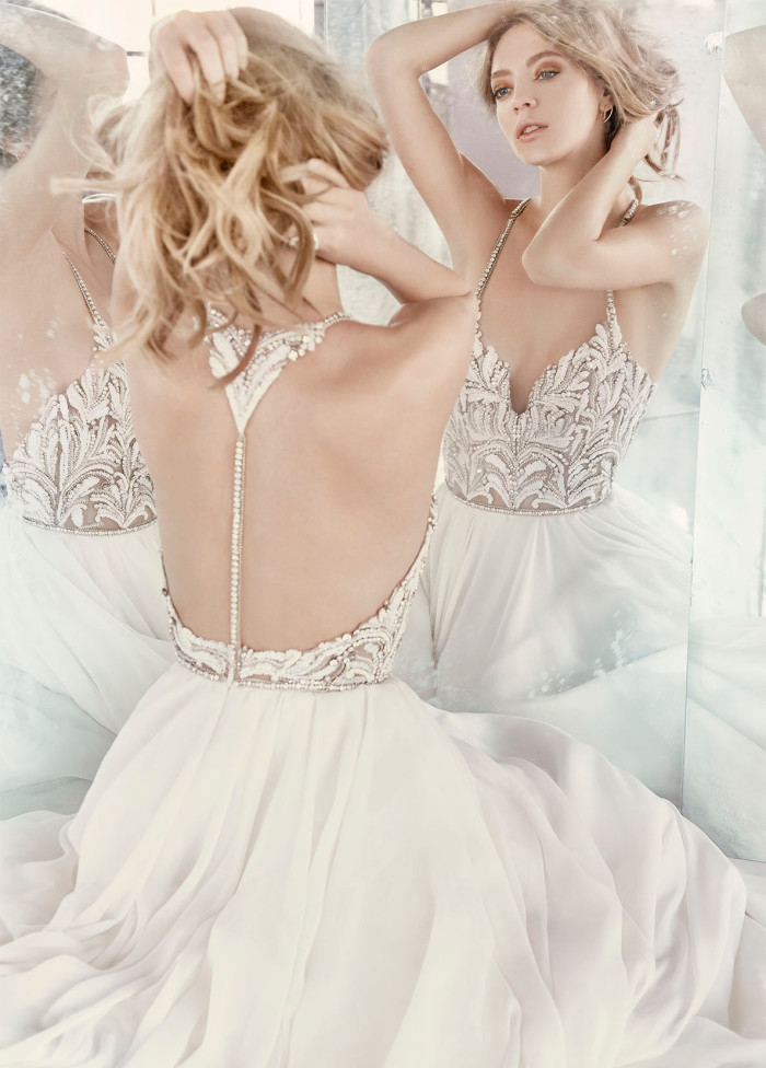 A gorgeous new hayley paige wedding dress our wedding for Top of the line wedding dresses