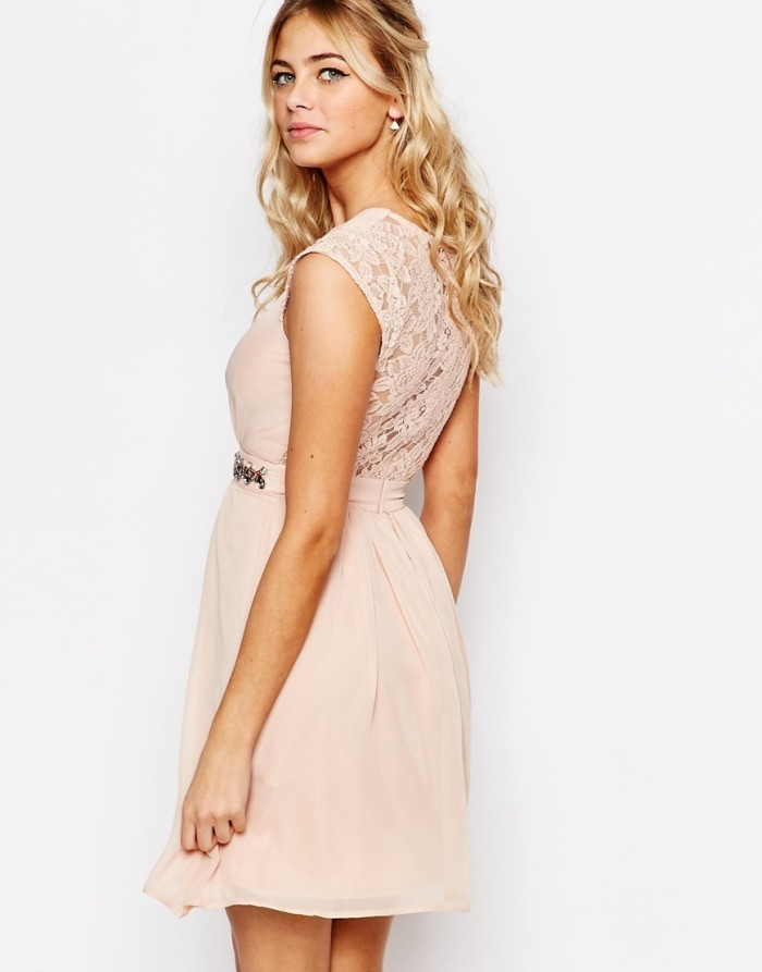 Lace back blush dress | From ASOS