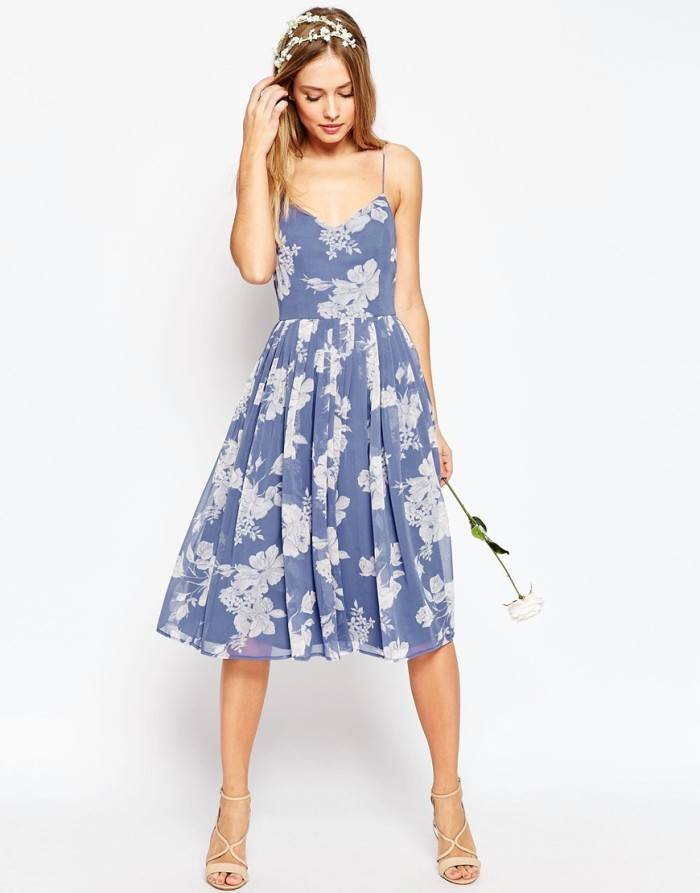 Floral print bridesmaid dress under $100 | From ASOS