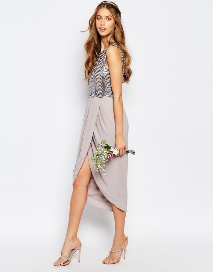 Sequin top dress under $100 | From the new ASOS collection for bridesmaids