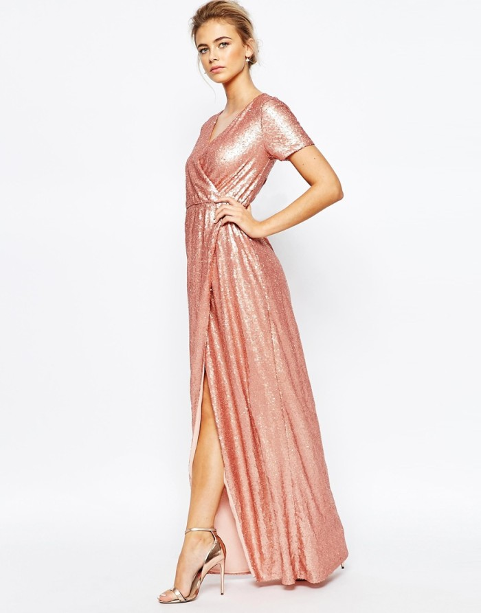 Pink sequin maxi dress | ASOS