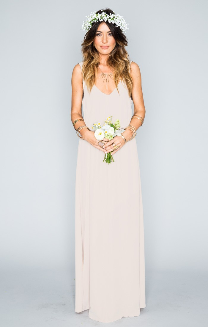 Neutral bridesmaid dress from Show Me Your Mumu