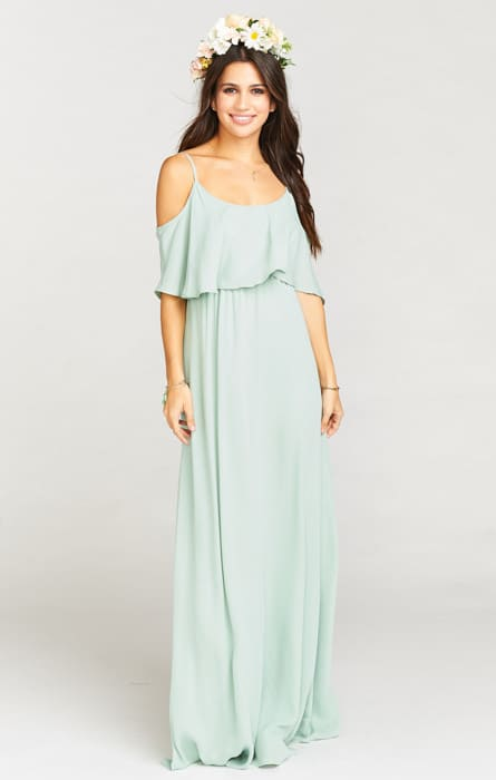 mint maxi dress for bridesmaids