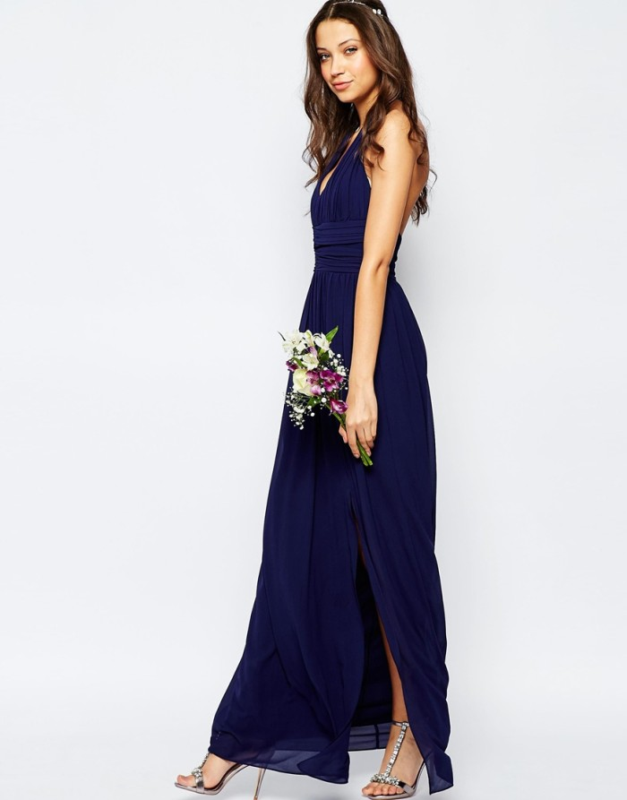 navy blue maxi dress under $100