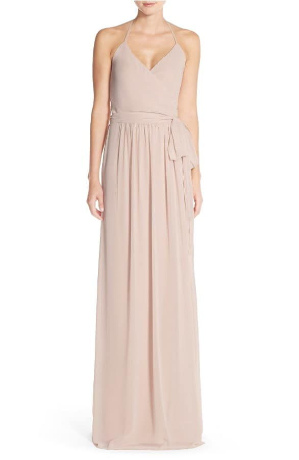 Flattering Tan Bridesmaid Dress