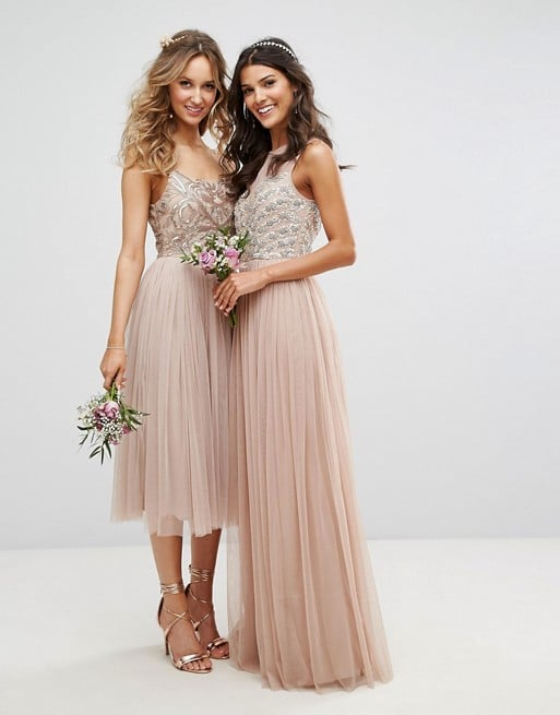Mocha Bridesmaid Dresses both Short and Long Styles
