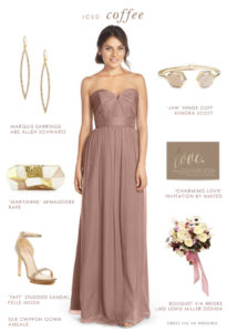 Bridesmaid Dress in Beige