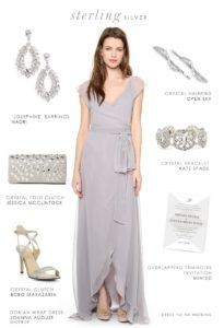 Gray dress for bridesmaids