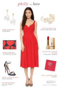 Red Dress for Engagement Photos