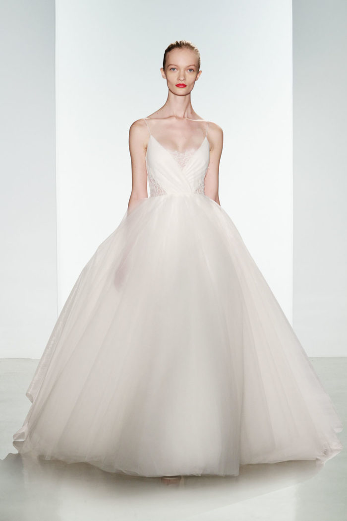 Penny by Christos Bridal | A designer wedding dress with tulle ballgown skirt