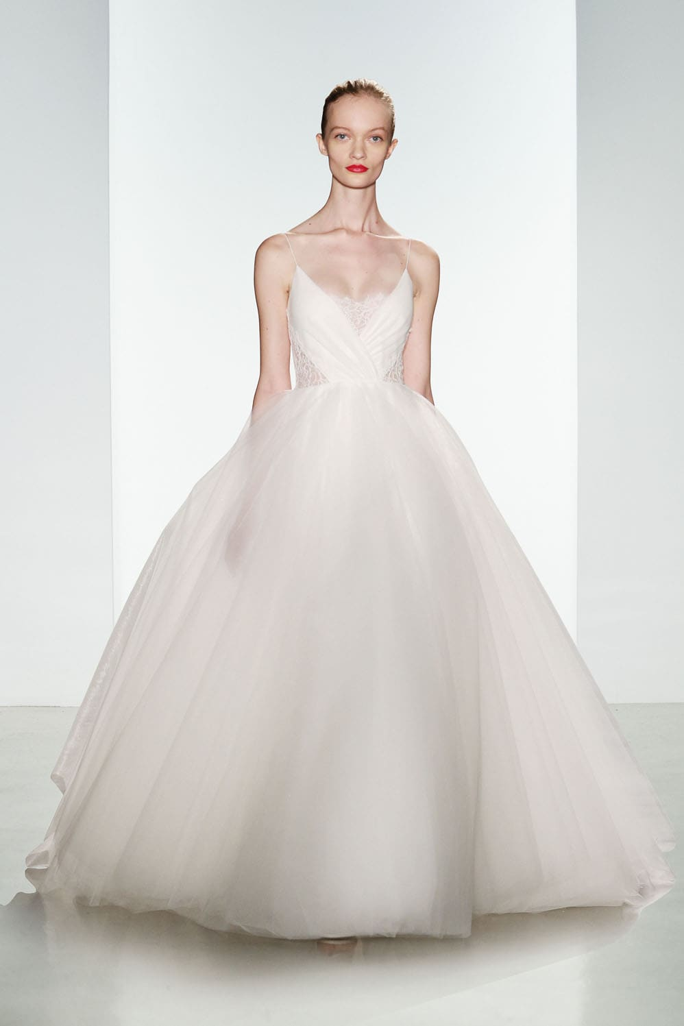 Penny by christos tulle ballgown wedding dress for High low ball gown wedding dress
