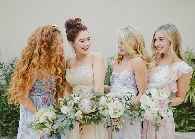 Printed Bridesmaid Dresses by PPS Couture |Kelly Sauer Photography