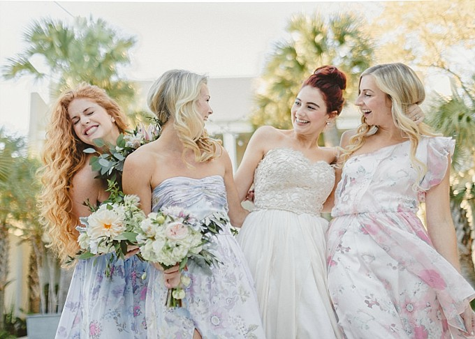 Pretty floral dresses by PPS Couture |Kelly Sauer Photography