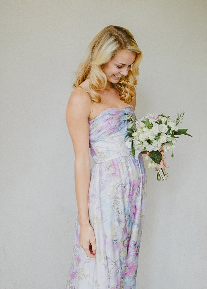 Blue and lavender floral bridesmaid dress | PPS Couture | Kelly Sauer Photography