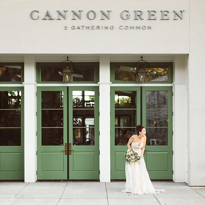 Bride at Cannon Green in Charleston| Kelly Sauer Photography