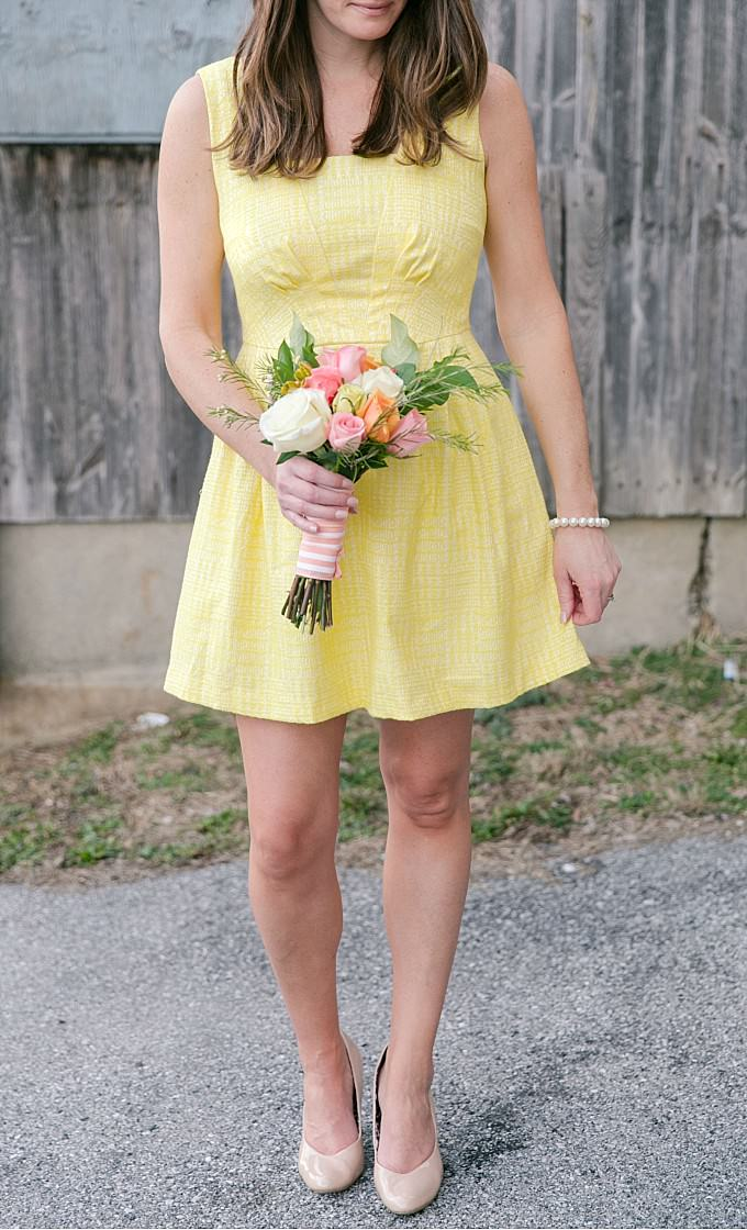 Short yellow dress for a bridesmaid|ModCloth | Photography by Brittney Kreider