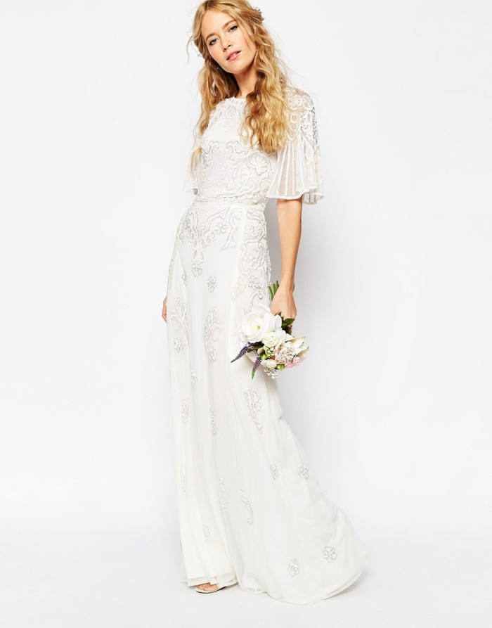 Turmec Long Sleeve Wedding Dress Under 500