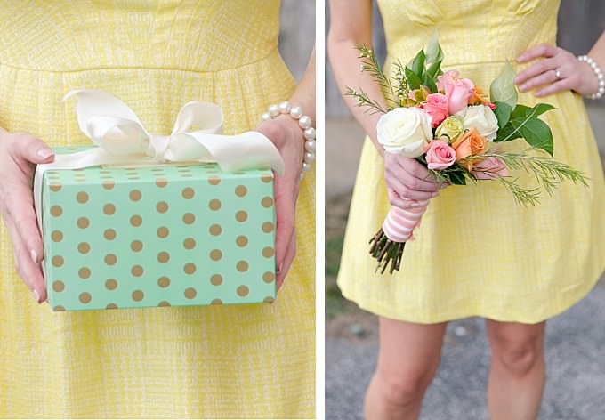 Cute yellow dress and accessories for a bridal shower or wedding | ModCloth | Photography by Brittney Kreider