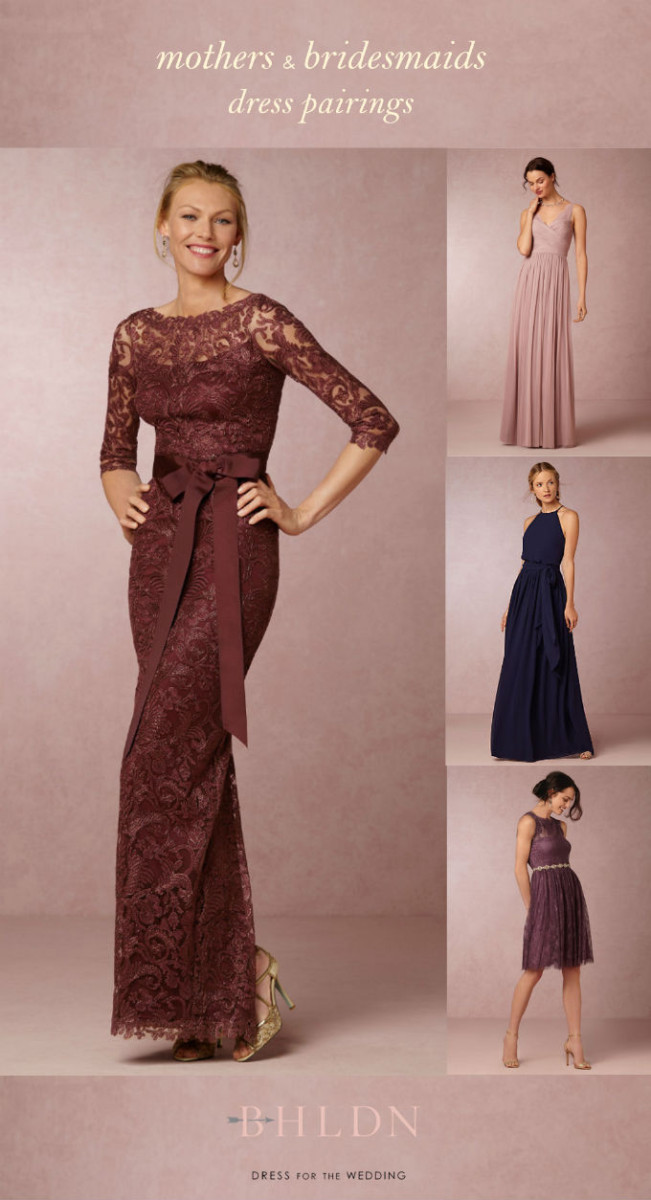 MOB dress to wear with navy or plum bridesmaid dresses