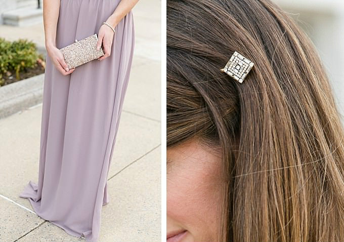 wedding guest outfit | Hair accessories and dress by ModCloth | Photography by Brittney Kreider
