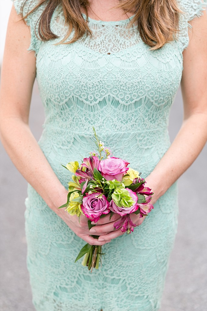 Mint green lace bridesmaid dress from ModCloth | Photo by brittneykreider.com