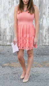 Coral lace dress | Dress from ModCloth | Brittney Kreider Photography