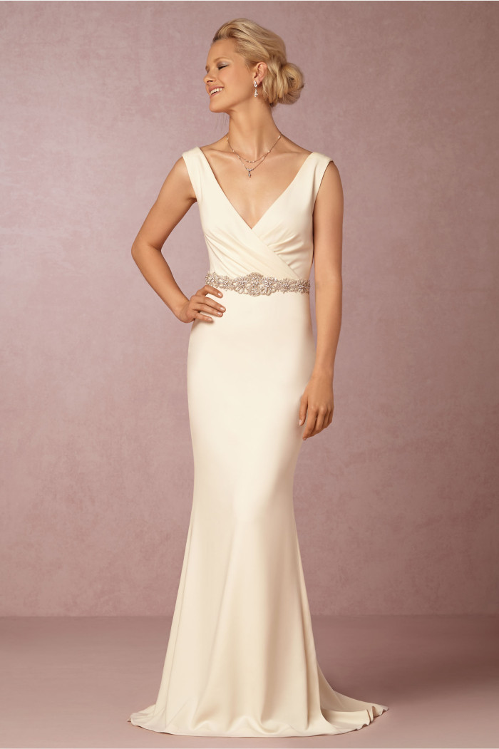 Sophisticated wedding dress under 1000 |Livia Gown from BHLDN