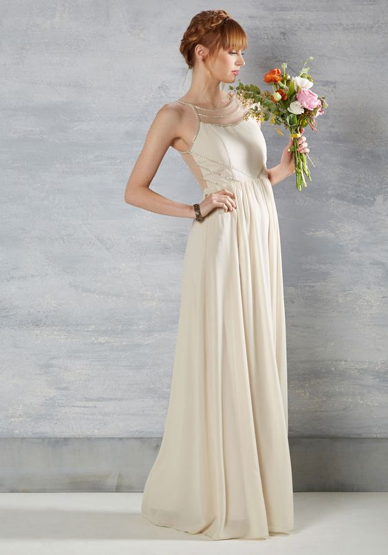 Goddess wedding dress under 300 | Found at ModCloth