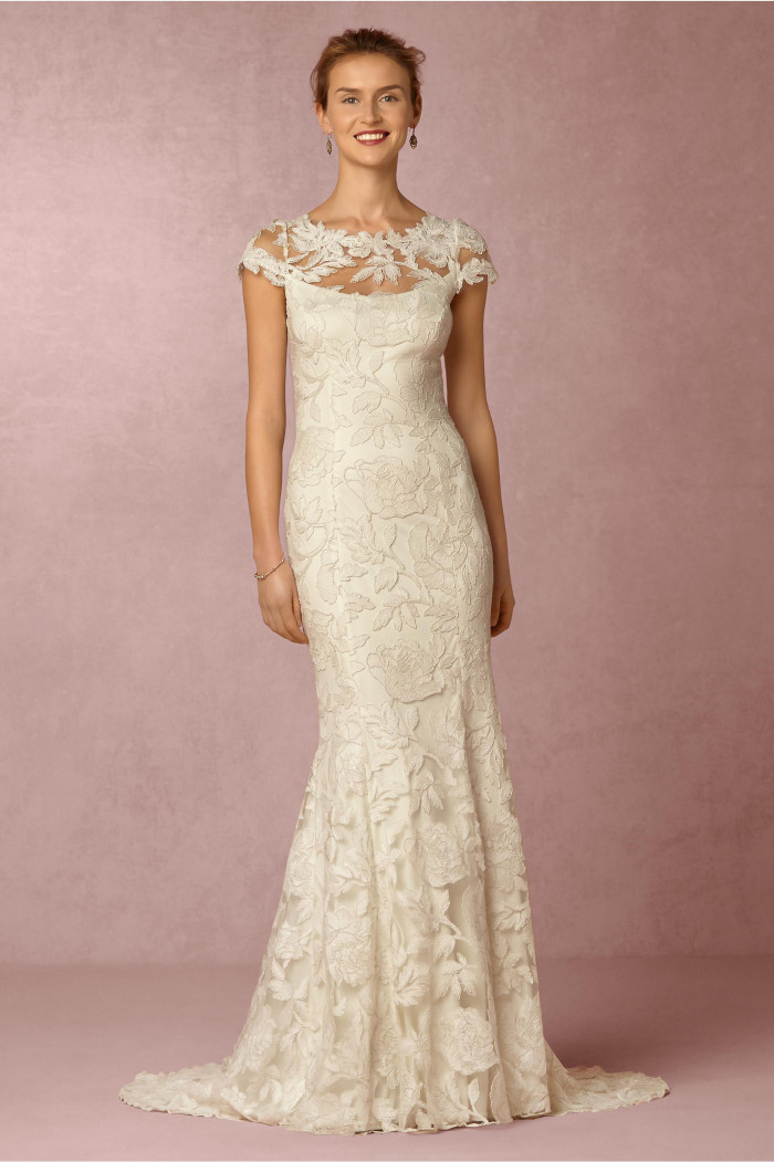 Lace wedding dress under $850 | Elinor Gown from BHLDN