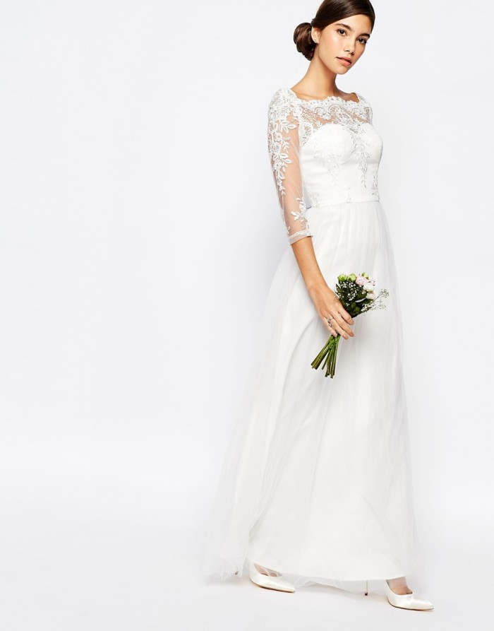long sleeve wedding dress under 200 | ASOS Bridal Collection