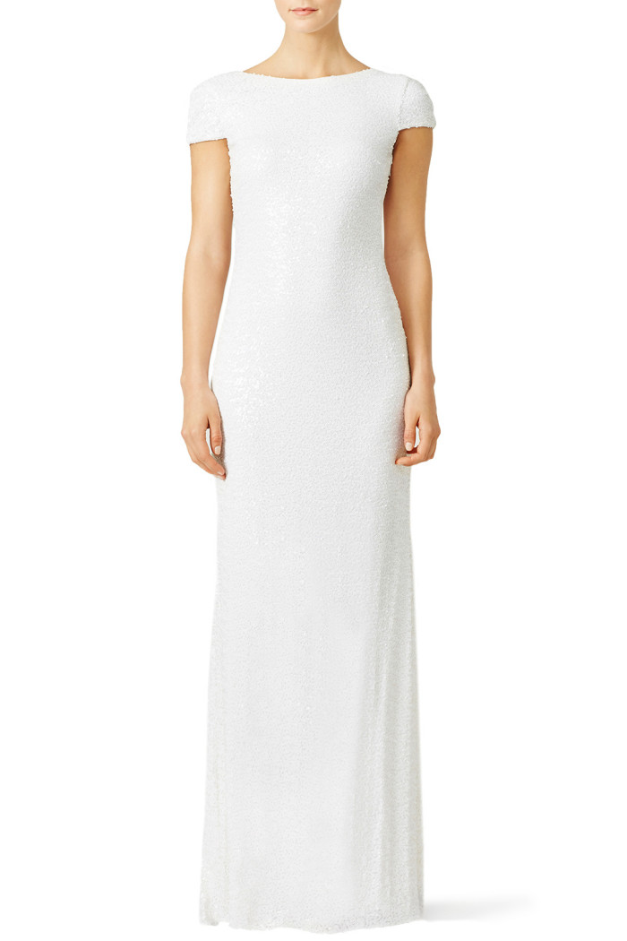white award winner gown from rent the runway a 100 rental