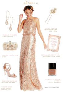 Peach Sequin Gown