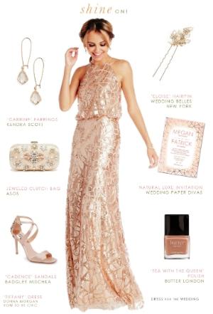 Rent sequin bridesmaid dresses