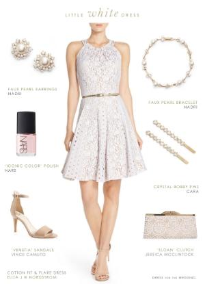 short little white lace dress