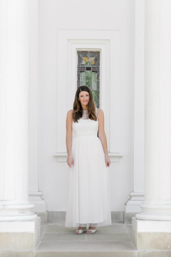 Tulle and lace wedding dress under $160 | ModCloth Wedding |Photo by brittneykreider.com