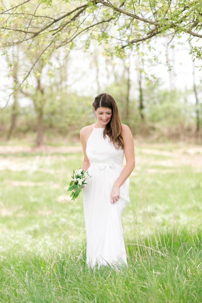 Modern wedding dress from ModCloth