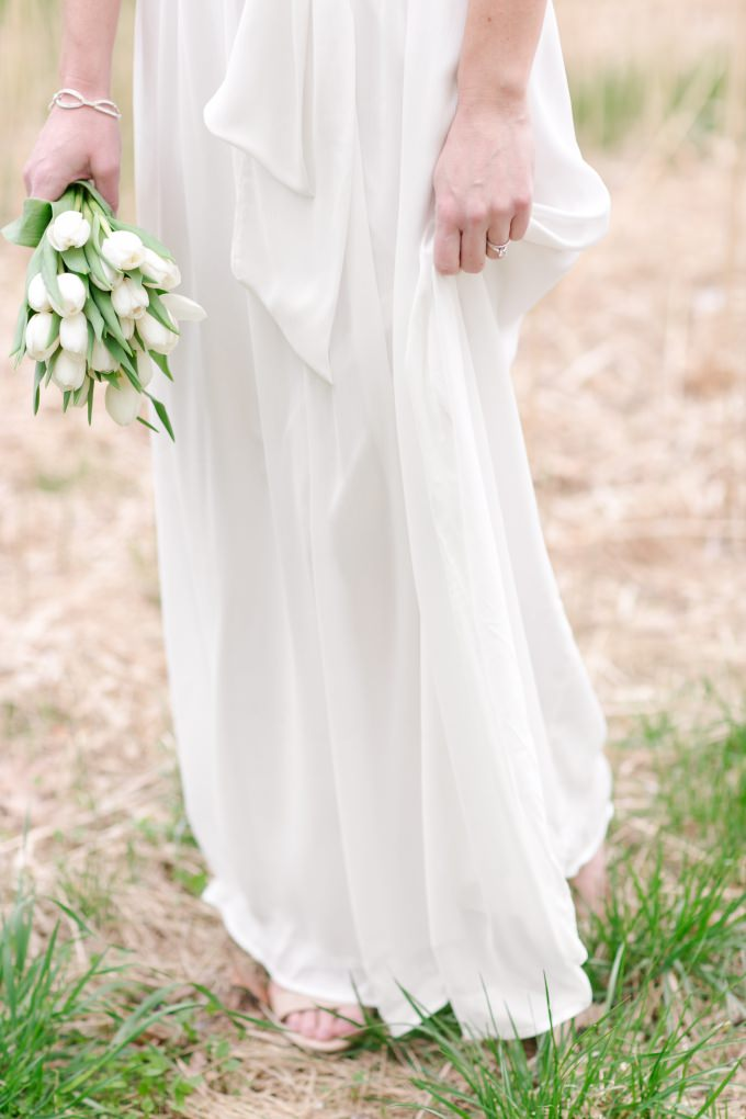 Simple wedding dress for outdoor wedding | Dress from ModCloth