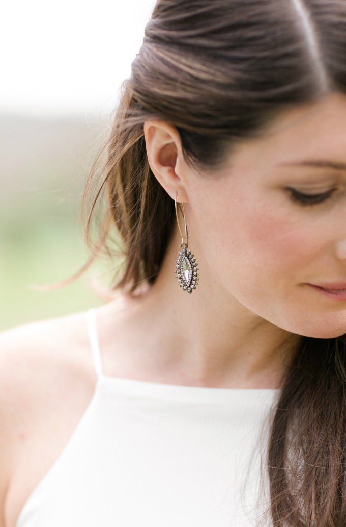 Crystal earrings for a wedding | Earrings from ModCloth | Photo by http://brittneykreider.com/