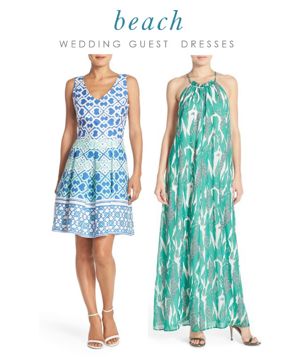 Dresses for guests of beach weddings