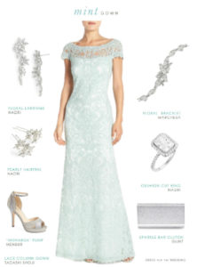 mint green mother of the bride gown