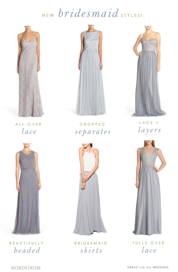 Designer bridesmaid dresses and styles from Nordstrom Weddings