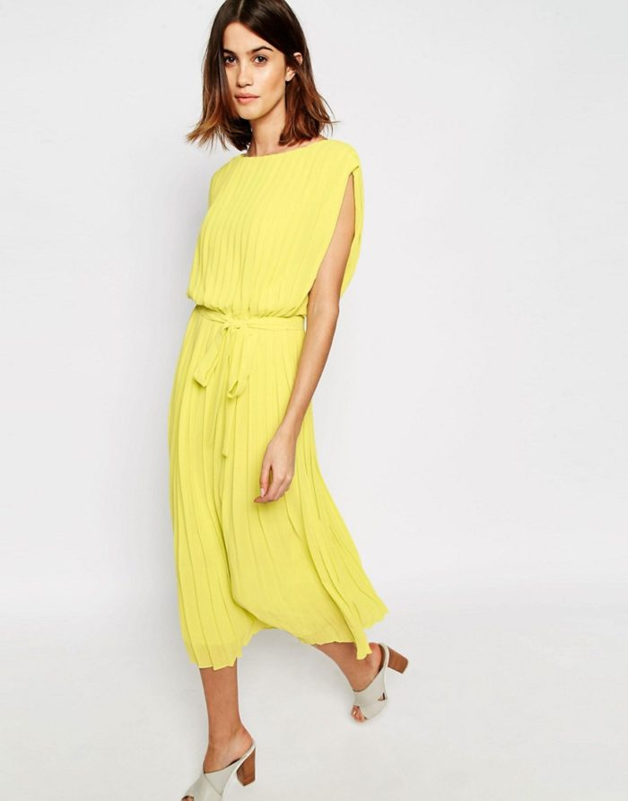 Wedding guest dresses for spring weddings for Yellow wedding guest dress