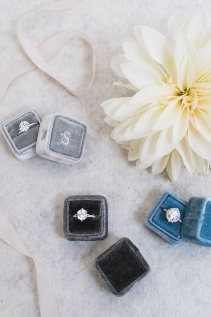 Gorgeous wedding rings | Aisle Society shoot by Alexis June Weddings