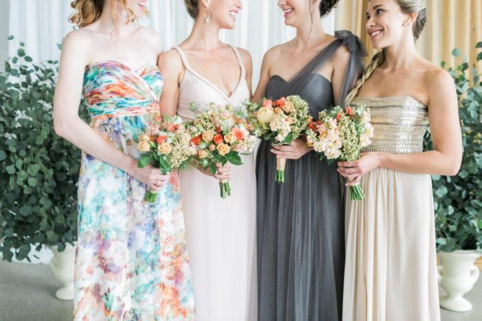 Mismatched Bridesmaids for Aisle Society |Photography by http://alexisjuneweddings.com/