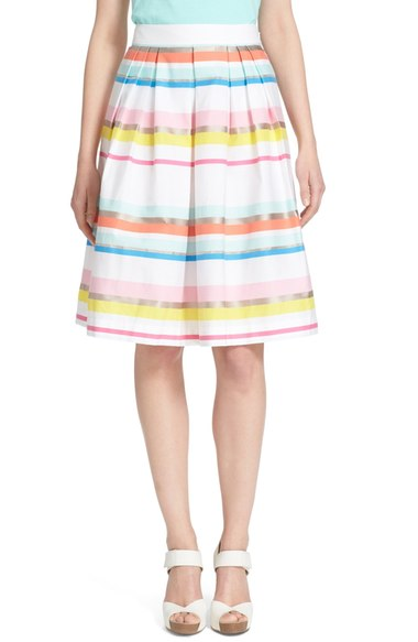 Striped skirt for a wedding by Kate Spade