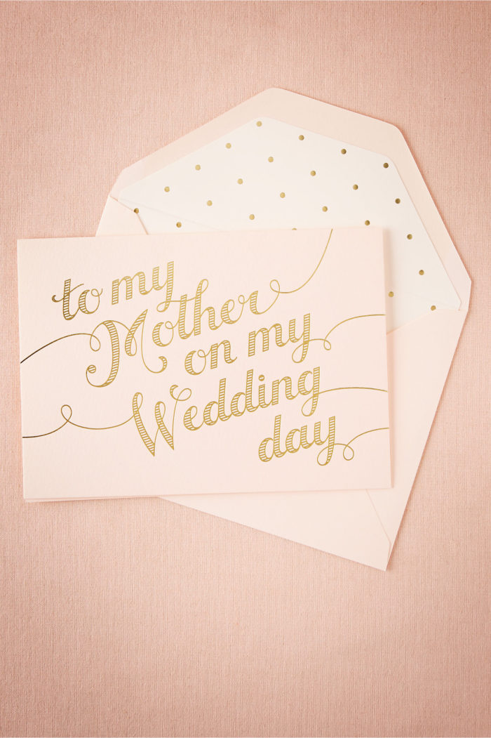 Card for Mother of the Bride |BHLDN