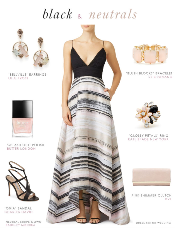 Black and Neutral Wedding Guest Outfit | Dresses for Wedding Guests