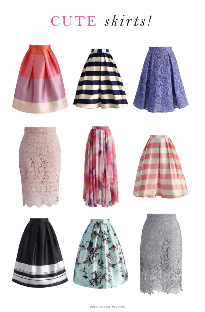 Cute skirts for weddings