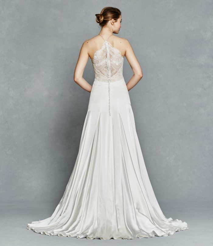 Lace back wedding gown | Rosalee