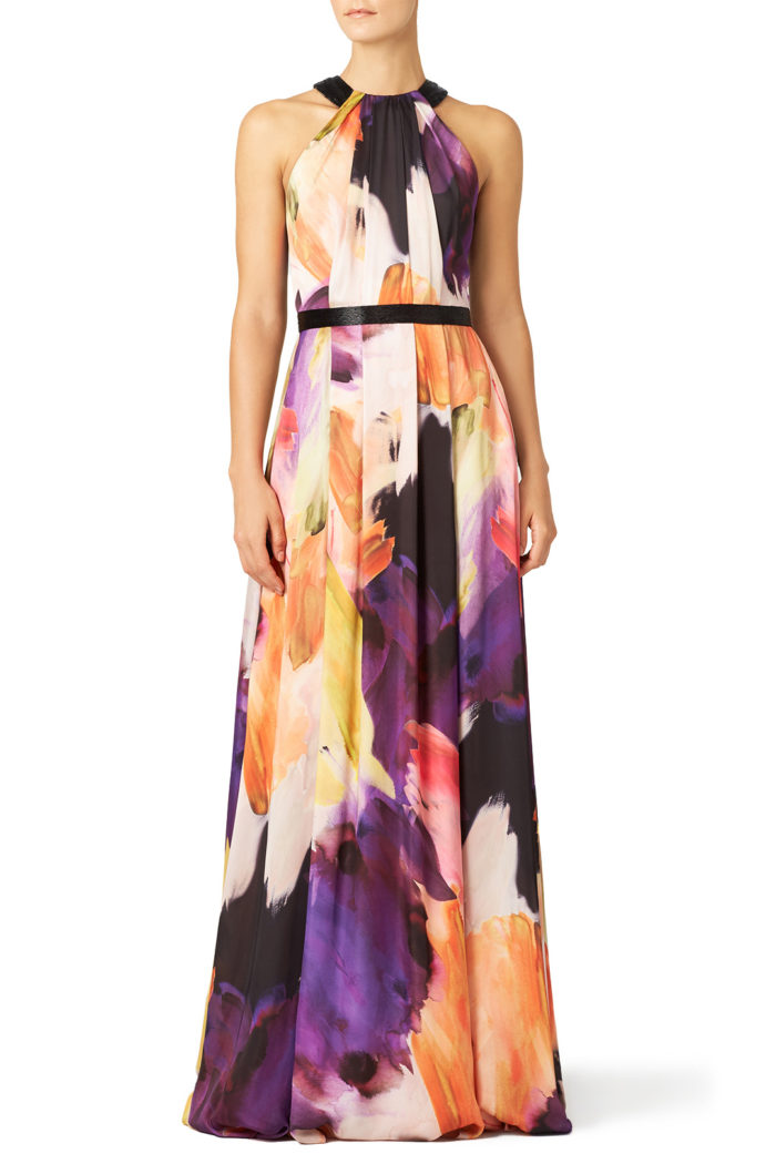 Bold printed maxi dress | July 2016 Wedding Guest Outfits